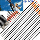 "48pcs 33"" Archery Arrow Fiberglass Arrows Nocks Fletched Target Practice Hunting"