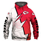 Kansas City Chiefs Football Team Hoodie Hooded Sweatshirt Jacket gift for fan $29.44 USD on eBay