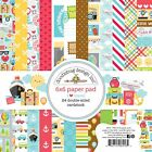 """Doodlebug Double-Sided Paper Pad 6""""X6"""" 24/Pkg-I Heart Travel, 12 Designs/2 Each"""