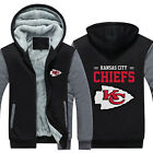 Kansas City Chiefs Hoodie Winter Fleece Coat Fans Warm Jacket Zip Up Sweatshirt $39.89 USD on eBay