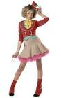 Womens Petite Teen Mad Hatter Alice In Wonderland Storybook Fancy Dress Costume