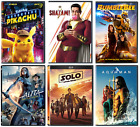 DVD YOU PICK Aquaman, Shazam , Alita, Pokemon, Good Boys, Solo-BUY MORE  SAVE