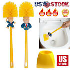 Donald Trump Toilet Brush Base Funny Gag Toilet Brushes Bowl Bathroom Cleaner US