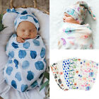 Kyпить 2PCS 0-3M Newborn Infant Baby Swaddle Blanket Wrap Sleeping Bag Sacks Hat Outfit на еВаy.соm