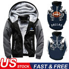 US Dallas Cowboys Hoodie Football Hooded Sweatshirt Fleece Coat Full Zip Jacket $18.99 USD on eBay