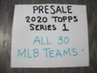 2020 TOPPS SERIES ONE  TEAM SETS -CHOOSE FROM DROP DOWN LIST- ALL 30 MLB TEAMS on Ebay