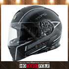 T14B Full Face Motorcycle Helmet Bluetooth Street Flat Black Scramble Gray M DOT
