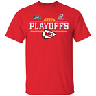 Men's Kansas City Chiefs Playoffs Bound Chip 2019 Red T-shirt M-XXXL $16.95 USD on eBay