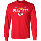 Men's Kansas City Chiefs Playoffs Bound Chip 2019 Red Long T-shirt S-5XL $22.95 USD on eBay