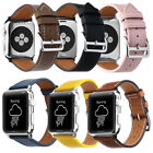 Genuine Leather Wrist Watch Strap for Apple iWatch Band series 5 4 3 2 1 38-44mm image