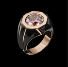 Ring Jewelry Drop Band Morganite Water Silver Engagement Luxury Wedding 925 Gift
