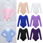 Kyпить US Girls Gymnastics Long Sleeve Leotards Ballet Dance Dress Bodysuit Dancewear на еВаy.соm