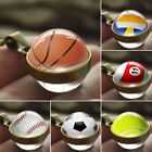 Double Sides Glass Football Ball Shaped Sports Pendant Necklace Chain Party Gift $2.69 CAD on eBay