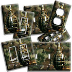 MILITARY CAMO WW2 HAND GRENADE ART LIGHT SWITCH OUTLET WALL PLATE NEW ROOM DECOR