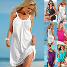 UK Womens Summer Holiday Beach Wear Bikini Cover Up Boho Ladies Swing Sun Dress