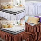 New Elastic Bed Skirt Dust Ruffle Easy Fit Wrap Around Twin Full Queen King Size image