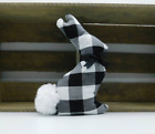 Fabric Easter Bunny - Farmhouse Spring Home Decor - Black White Buffalo Plaid