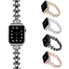 Women Watch Band Bracelet For Apple Watch Series 5 4 3 2 1 Metal Diamond Strap image