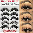 5 Pairs 6d Mink Hair False Eyelashes Wispy Fluffy Long Natural Eye Lashes Hot