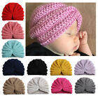 Toddlers Infant Baby Solid Color Knitted Hat Kids Winter Warm Casual Indian Caps