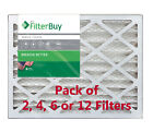 FilterBuy 14x24x2, Pleated HVAC AC Furnace Air Filter, MERV 8, AFB Silver