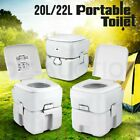 20L/22L Outdoor Portable Toilet New Camping Potty Caravan Travel Boating Flush