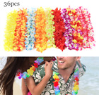24/36/50 Lei Flower Garlands Necklace Hawaiian Tropical Beach Party Dress FU
