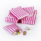 Pink Candy Stripe Sweet Paper Bags Sweet Buffet Gift Party Bags Wedding Cake Bag