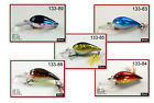 "Pack of 5 Akuna Little Chubby 3"" Square Bill Crankbait Bass Fishing Lures"