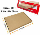 C5 - 218x159x20 mm Royal Mail Large Letter Postal Boxes Mail PIP Cardboard 4U