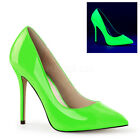 Neon UV Green 80s Barbie High Heels Drag Queen Mens Large Size Shoes 11 12 13 14