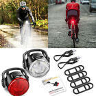 Rechargeable 12LED Bike Bicycle Light USB Waterproof Cycle Front Back Headlight