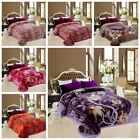 2Ply reversible Blanket Throw Thick Ultra Fine Polyester Mink Plush Heavy Weight image