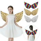 US Kids Children Glossy Metallic Fairy Angel Wings for Photo Props Party Costume