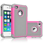 For iPhone SE 2016 5S 5C Case Shockproof Hybrid Rugged Rubber Armor Hard Cover