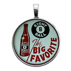 Old Eight Ball Soda Sign Image Key Ring Necklace Cufflink Tie Clip Ring Earrings $11.95 USD on eBay