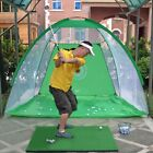 Foldable Golf Hitting Cage Aid Indoor Golf Cage Swing Golf Training Practice Net