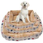 S/M/L Deluxe Soft Washable Dog Pet Warm Basket Bed Cushion with Fleece Lining UK