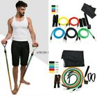 1-11pcs Resistance Bands Exercise Fitness Tube Workout Bands Strength Training image