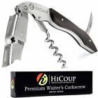 Waiters Corkscrew by HiCoup – Professional  All-in-one Corkscrew, Bottle Opener