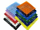 LOT 1 3 6 BANDANA 100% COTTON DOUBLE SIDED PASLEY DESIGN HEADWRAP 22x22' IN USA