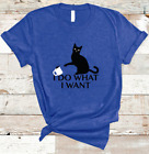 I Do What I Want Black Cat Cat Lovers - Tees, T- Shirt, Shirt0