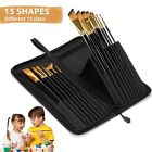 Pop Up Paint Brush Case Profession Painting Brush Set For Drawing Watercolor Oil