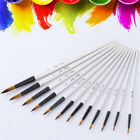 12pcs/Set Artist Paint Brushes Acrylic Oil Watercolor Painting Craft Art Kit