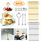 10 Set 3 Tier Cake Plate Stand Handle Wedding Party Afternoon Tea Hardware Rod