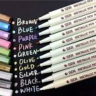 METALLIC MARKER PEN PENS GOLD WHITE PINK BLUE DIY CRAFT SCRAPBOOK CARD