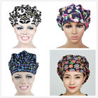 4Pack Men Women Floral Printing Scrub Cap Hat Work Accessories Mixed Colors New