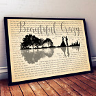 Beautiful Crazy Song Music Lyrics Art Print Canvas Wall Decor Gifts