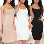US Women Long Spaghetti Strap Full Slip Camisole Under Dress Liner Sexy Lingerie