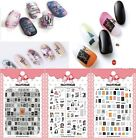 Women Letters Patterns Nails Art Manicure Glue Decal Decorations Design Sticker